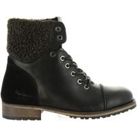 Zapatos Mujer Botas urbanas Pepe jeans PLS50329 MELTING Negro