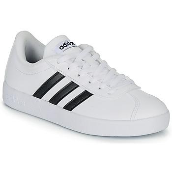 Zapatos Niños Zapatillas bajas adidas Originals VL COURT K BLC Blanco