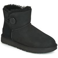 Zapatos Mujer Botas de caña baja UGG MINI BAILEY BUTTON II Negro