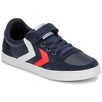 Zapatos Niños Zapatillas bajas Hummel SLIMMER STADIL LEATHER LOW JR Azul