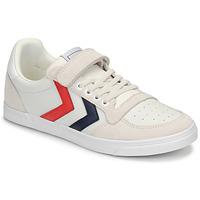 Zapatos Niños Zapatillas bajas Hummel SLIMMER STADIL LEATHER LOW JR Blanco