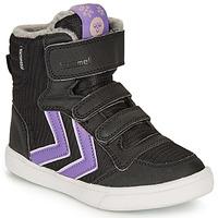 Zapatos Niña Zapatillas altas Hummel STADIL POLY BOOT MID JR Negro