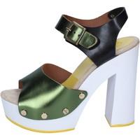 Zapatos Mujer Zapatos de tacón Suky Brand sandalias verde negro cuero BS18 verde