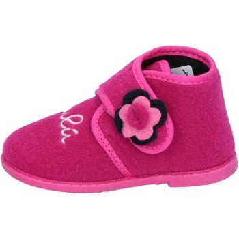 Zapatos Niña Pantuflas Lulu zapatillas rosado fucsia textil BS28 rosado