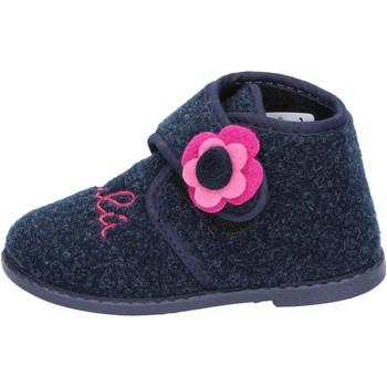 Zapatos Niña Pantuflas Lulu zapatillas azul textil BS29 azul