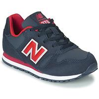 Zapatos Niño Zapatillas bajas New Balance 373 Azul / Rojo