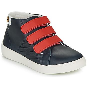 Zapatos Niña Zapatillas bajas Faguo ASPENLOW LEATHER Azul