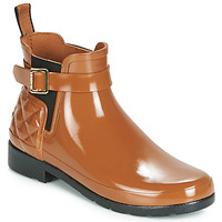 Zapatos Mujer Botas de agua Hunter REFINED GLOSS QUILT CHELSEA Camel