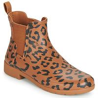 Zapatos Mujer Botas de agua Hunter ORG REFINED CHELSEA HYBRD PRNT Leopardo