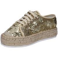 Zapatos Mujer Zapatillas bajas Francescomilano sneakers platino textil lentejuelas BS77 otros