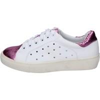 Zapatos Mujer Zapatillas bajas Francescomilano sneakers blanco rosado cuero sintético BS78 blanco