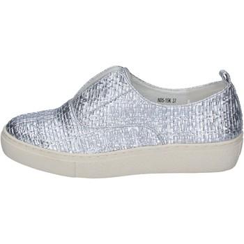 Zapatos Mujer Slip on Francescomilano slip on plata cuero sintético BS79 plata