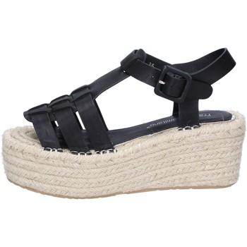 Zapatos Mujer Sandalias Francescomilano sandalias negro cuero sintético BS80 negro