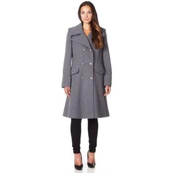 textil Mujer Abrigos De La Creme Abrigo de invierno de lana de cachemira militar Grey