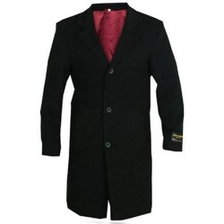 textil Hombre Abrigos De La Creme Abrigo con ribete de terciopelo de lana y cachemira Black