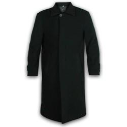 textil Hombre Abrigos De La Creme Abrigo largo de invierno de lana y cachemira Black