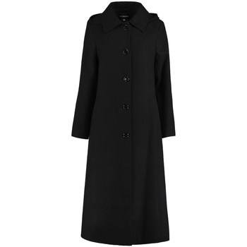 textil Mujer Abrigos De La Creme Abrigo largo desmontable con capucha de invierno Black