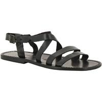 Zapatos Hombre Sandalias Gianluca - L'artigiano Del Cuoio 531 U NERO CUOIO nero