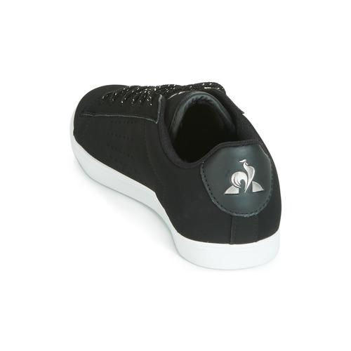 NegroPlateado Coq Agate Bajas Zapatillas Le Sportif Nubuck Mujer Zapatos K1JcFl