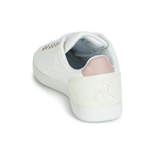 Mujer Zapatillas Zapatos Bajas Coq Sportif Courtstar BlancoRosa Le W Boutique Yb7yf6g