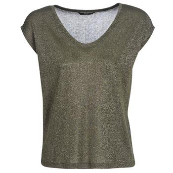 textil Mujer camisetas manga corta Only ONLSILVERY Kaki
