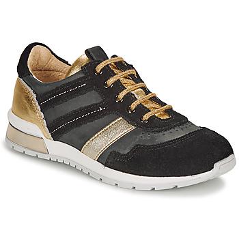 Zapatos Niña Zapatillas bajas Catimini CAMELINE Negro / Oro