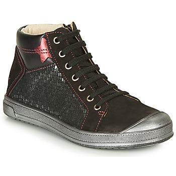 Zapatos Niña Zapatillas altas GBB ORENGETTE Negro / Plata