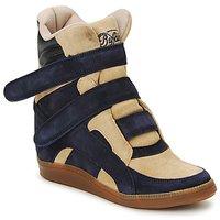 Zapatos Mujer Zapatillas altas Buffalo GINGERWA Marino / Beige