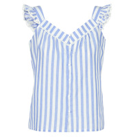 textil Mujer Tops / Blusas Betty London KOUDEI Azul / Blanco