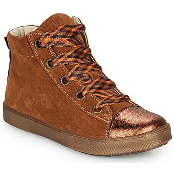 Zapatos Niña Zapatillas altas GBB OUSTILLE Cognac