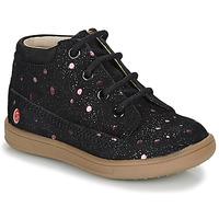 Zapatos Niña Botas de caña baja GBB NINON Negro / Rosa