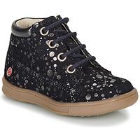 Zapatos Niña Botas de caña baja GBB NINON Marino / Plata