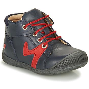 Zapatos Niño Botas de caña baja GBB OVELO Marino / Rojo