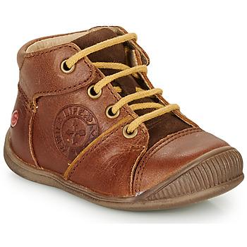 Zapatos Niño Botas de caña baja GBB OULOU Marrón / Cognac