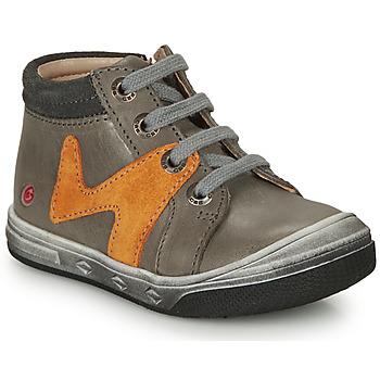 Zapatos Niño Zapatillas altas GBB OLINOU Gris / Ocre