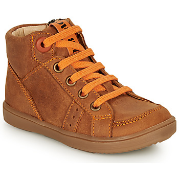 Zapatos Niño Zapatillas altas GBB ANGELITO Cognac / Naranja