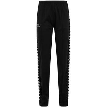 textil Pantalones Kappa ADEV BLACK WHITE Negro