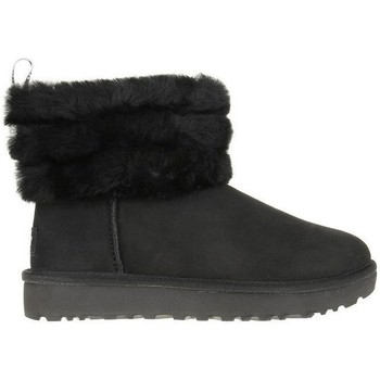 Zapatos Mujer Botas de nieve UGG Fluff Mini Quilted Negros