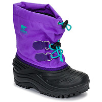Zapatos Niños Botas de nieve Sorel CHILDRENS SUPER TROOPER Negro / Violeta