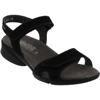 Zapatos Mujer Sandalias Mephisto Francesca Nobuck negro