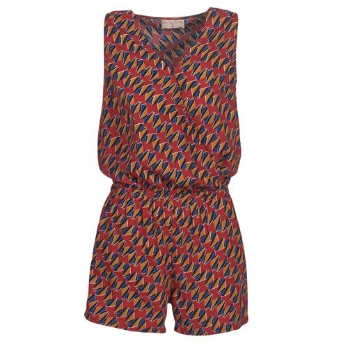 Moony Mood KETTELLE Rojo / Multicolor - Envío gratis   ! - textil Monos Mujer