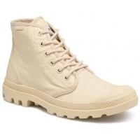 Zapatos Hombre Botas de caña baja Palladium Manufacture Pampa Hi Originale Beige