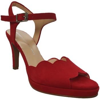 Zapatos Mujer Sandalias Brenda Zaro F3229 Terciopelo rojo