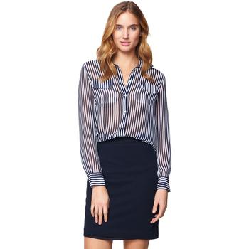 textil Mujer Faldas Gant Falda Jersey Pique Azul