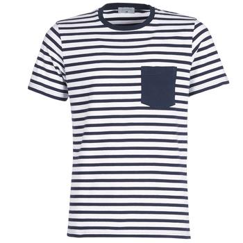 textil Hombre camisetas manga corta Casual Attitude KARALE Marino / Blanco