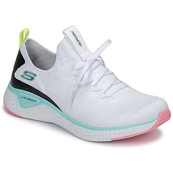 Zapatos Mujer Fitness / Training Skechers FLEX APPEAL 3.0 Blanco / Rosa / Azul