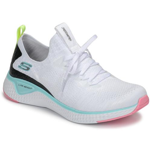 Zapatos Mujer Fitness / Training Skechers FLEX APPEAL 3.0 Blanco / Rosa / Azul