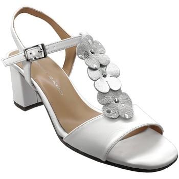 Zapatos Mujer Sandalias Brenda Zaro F3242 Cuero blanco