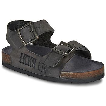Zapatos Niño Sandalias Ikks CURTIS Negro