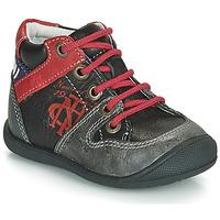 Zapatos Niño Botas de caña baja Catimini COMATULE Negro / Rojo